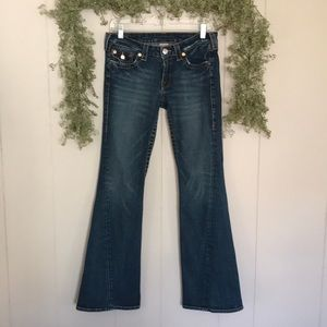 TRUE RELIGION Joey Flare Low Rise Jeans 30